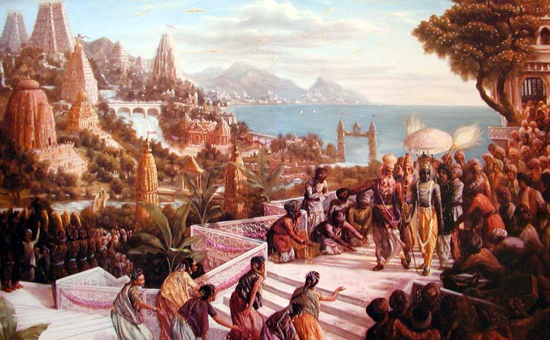 Resultado de imagem para imagens de krishna em dwaraka