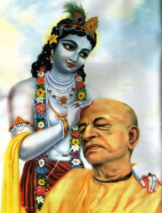 Srila Prabhupada and Lord Sri Krishna