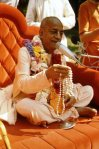 Srila Prabhupada with initition beads