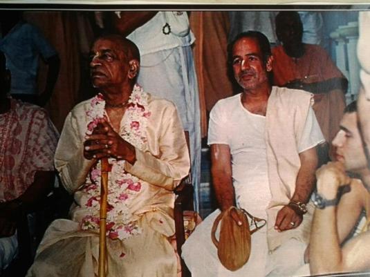 Srila Prabhupada at Radha Ramon  Vishvambhar goswami