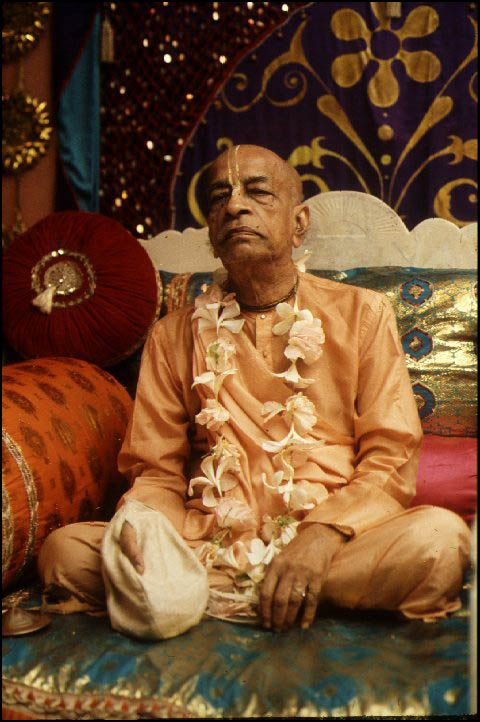 Srila Prabhupada with japa beads