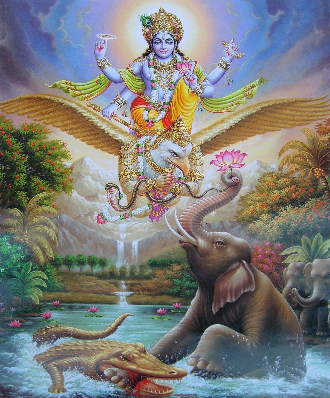 gajendra offers prayers