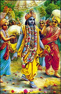 Krsna enters Dwarka