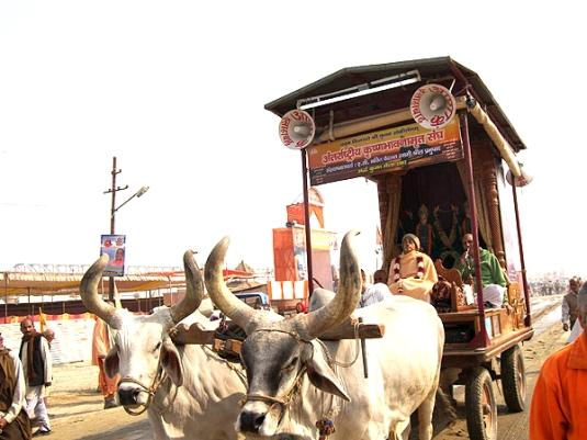 Srila Prabhupada Murti at Kumbha Mela
