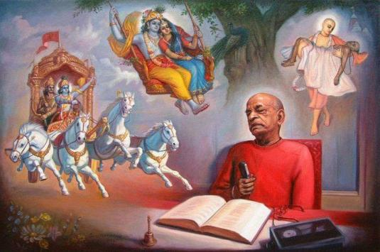 Srila Prabhupada dictating