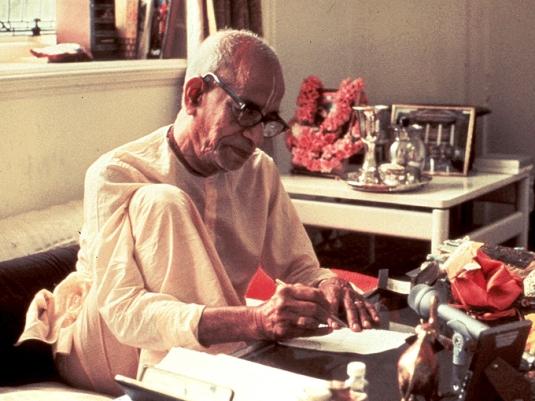 Srila Prabhupada writting 2