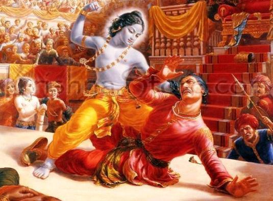 Killing of Kamsa by Krishna1