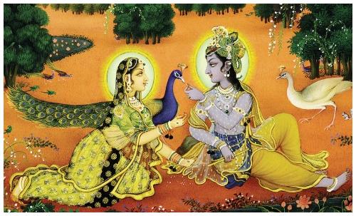 Krsna and Radharani