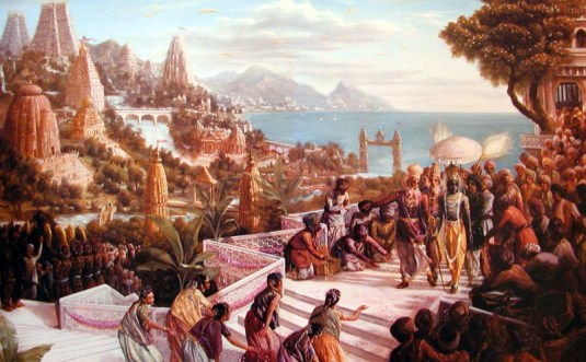 Lord Krishna Enters Dwarka