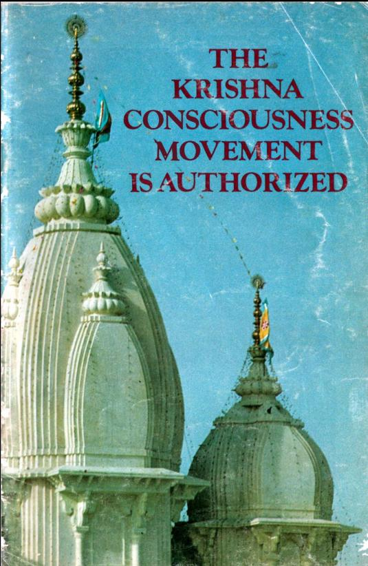 The Krishna Consciousness Movement