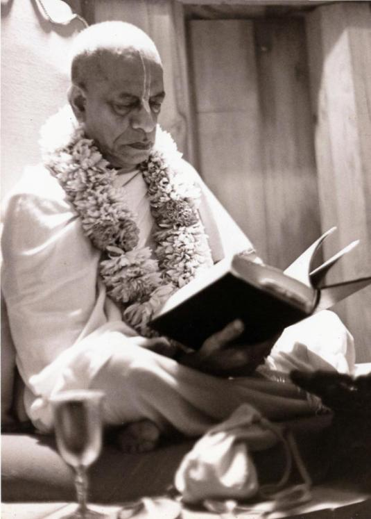 Srila Prabhupada-with-book
