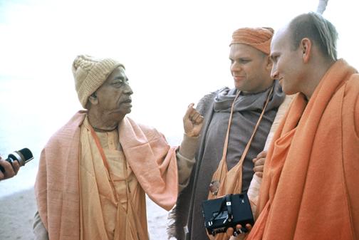 Srila Prabhupada and Brahmananda Swami