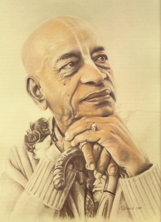 Drawing of Srila Prabhupada