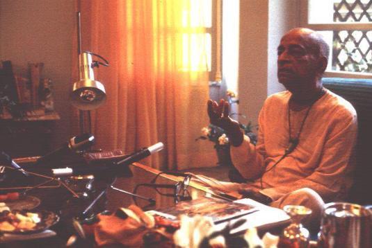 Srila Prabhupada room conversation