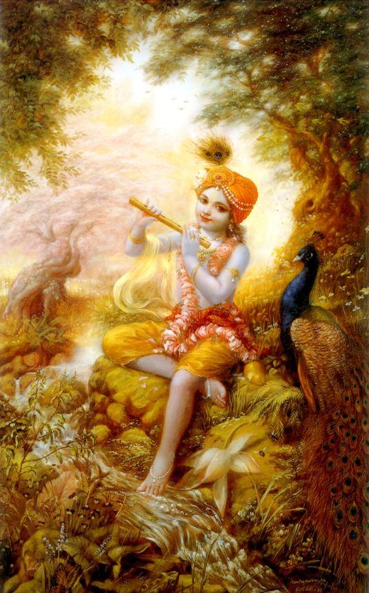 govinda with flute