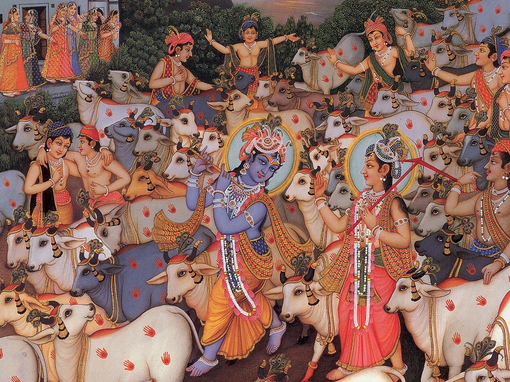 Krishna Balarama and Cows