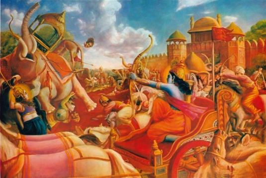 Krsna in Battle 2