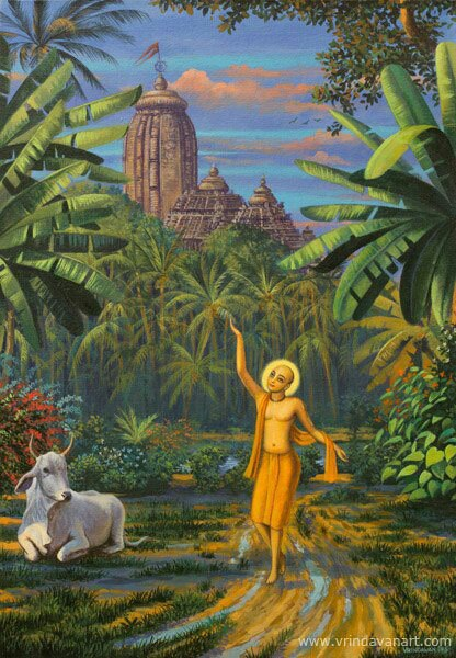 Lord Caitanya Mahaprabhu in Vrndavan