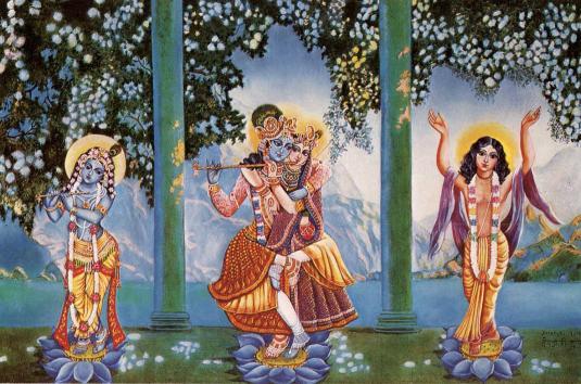 Lord Krsna Caitanya Radha