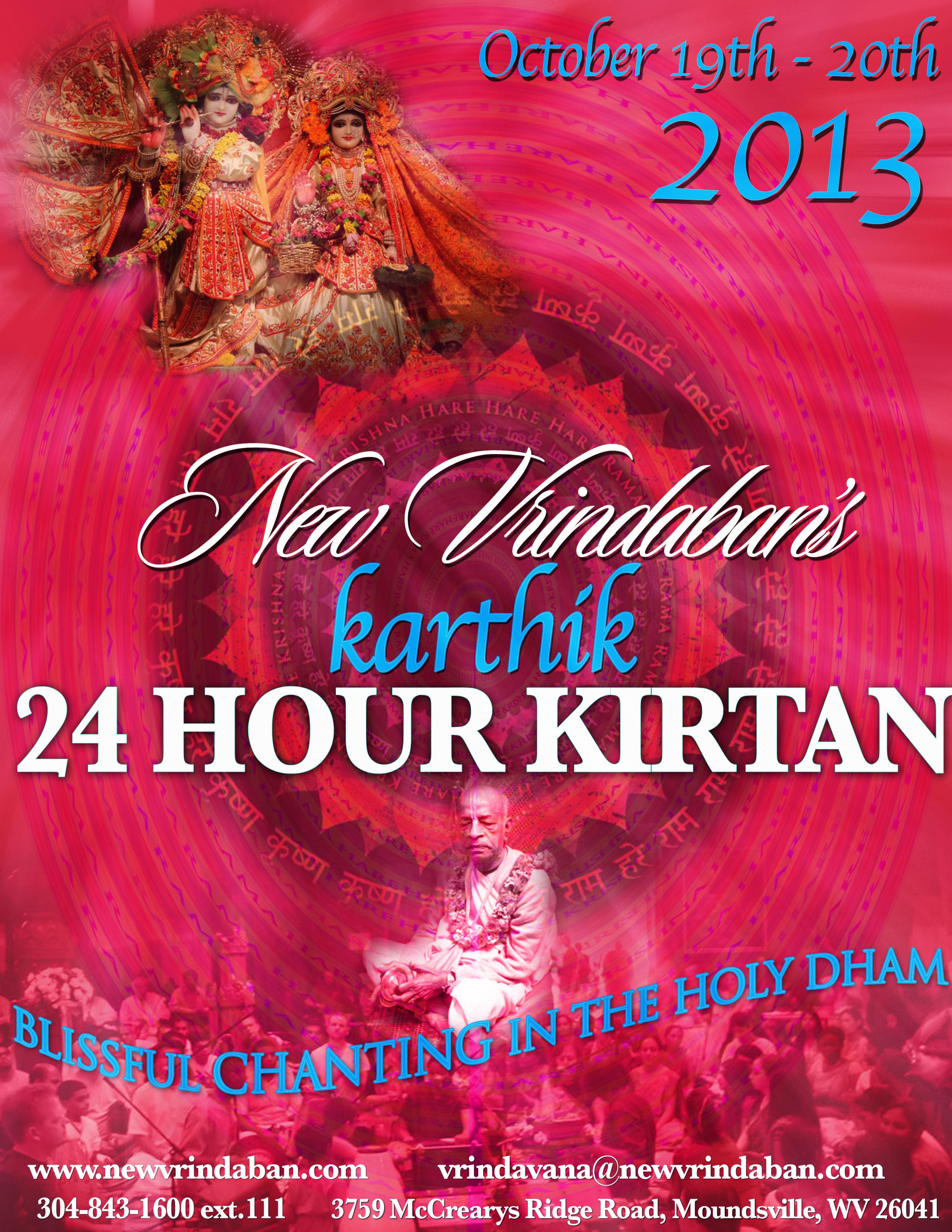 24 hour kirtan at New Vrindavan