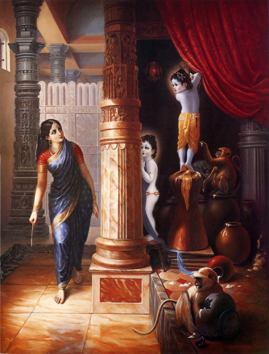Krsna & Balarama Hiding from Mother Yasoda