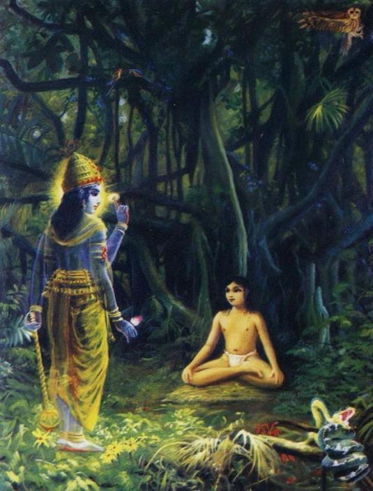 Narada muni meditates of Sri Krsna