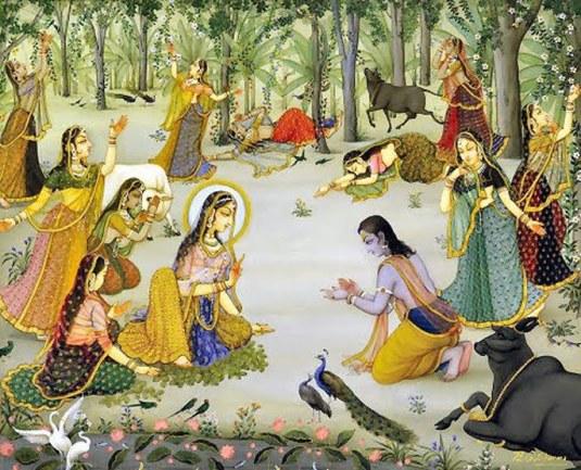 Uddhava, Radharani and the gopis