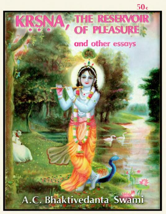 Krsna the Reservoir of Pleasure