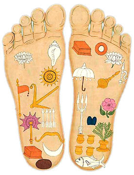 Nityananda lotus feet