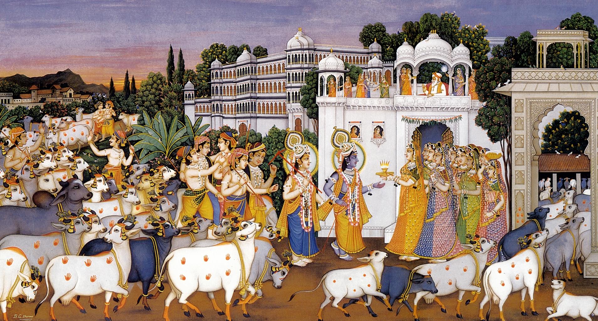 Sharma-village-cows-krishna-gopies-gopas-gopas-cowherd-men