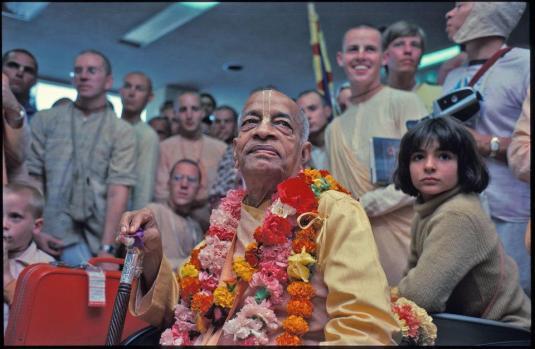 Srila Prabhupada with devotees