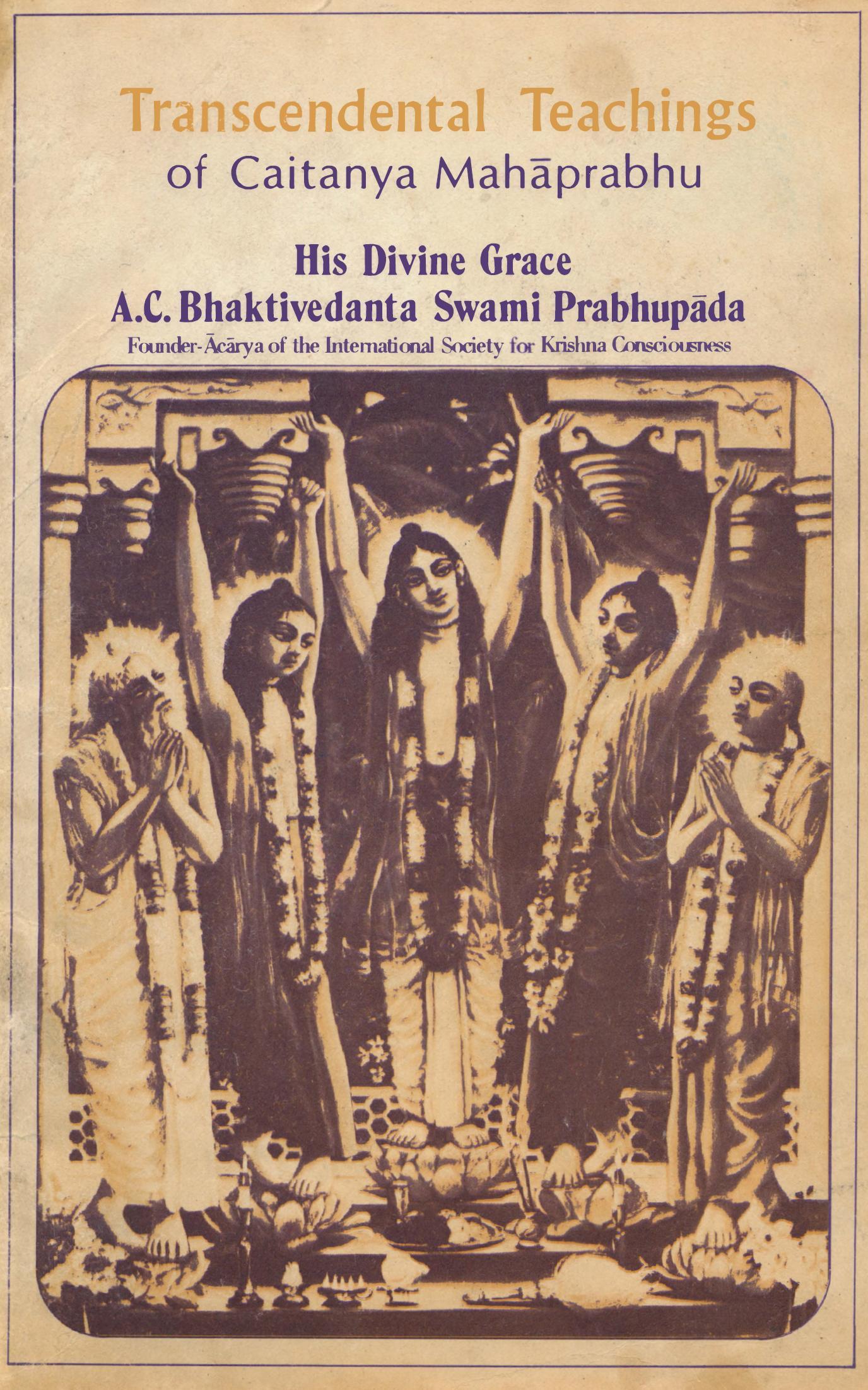 Transcendental teachings of Lord Caitanya