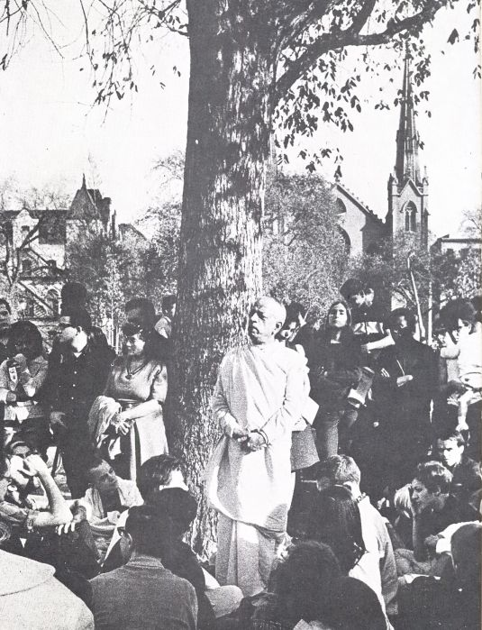 Srila Prabhupada at the Hare Krishna Tree