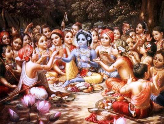 Krsna and the cowherd boys