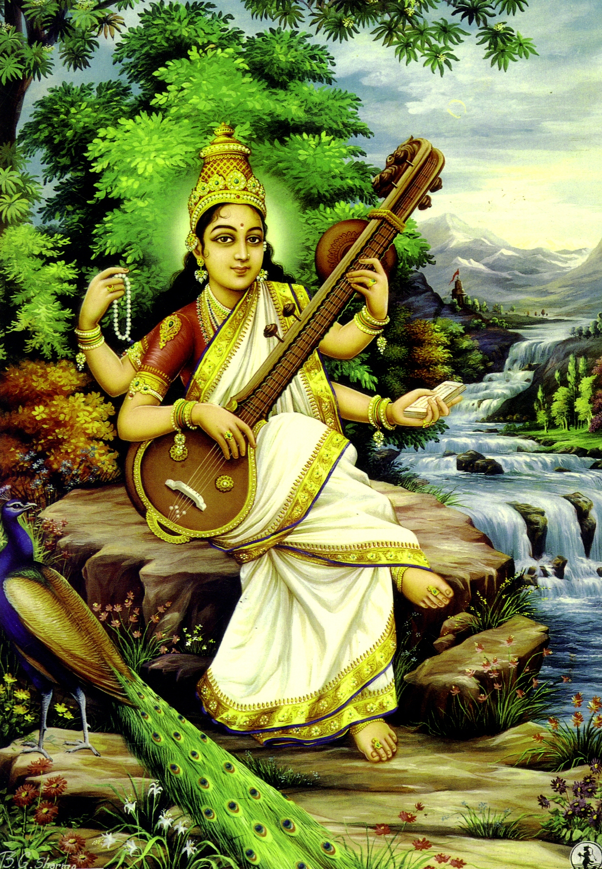 Sarasvati the Goddess of Learning