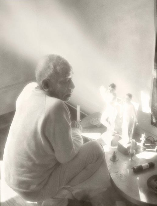 Srila Prabhupada with Radha Krishna