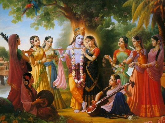 Radha-Krishna-with-Gopis