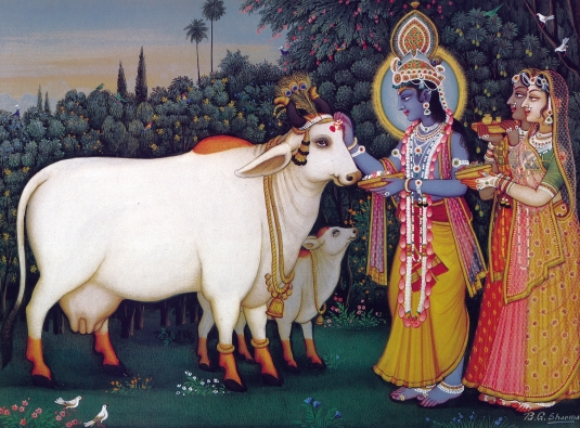 Lord Sri Krishna with Cows