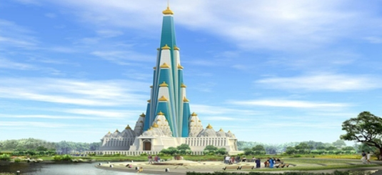 Tallest Temple vrindavan-chandrodaya-temple-1
