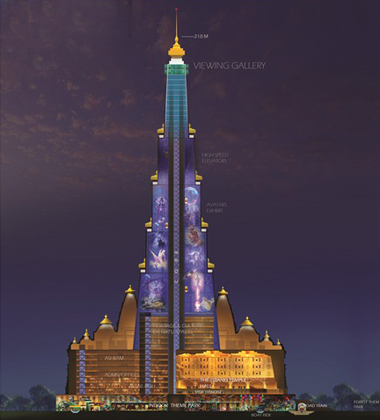 Tallest Temple vrindavan-chandrodaya-temple-2