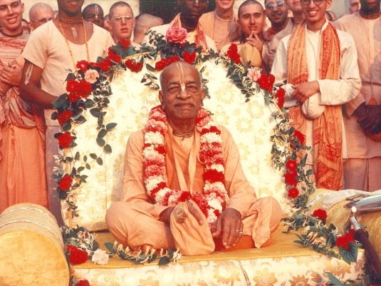 Srila Prabhupada on the  Vyasasana
