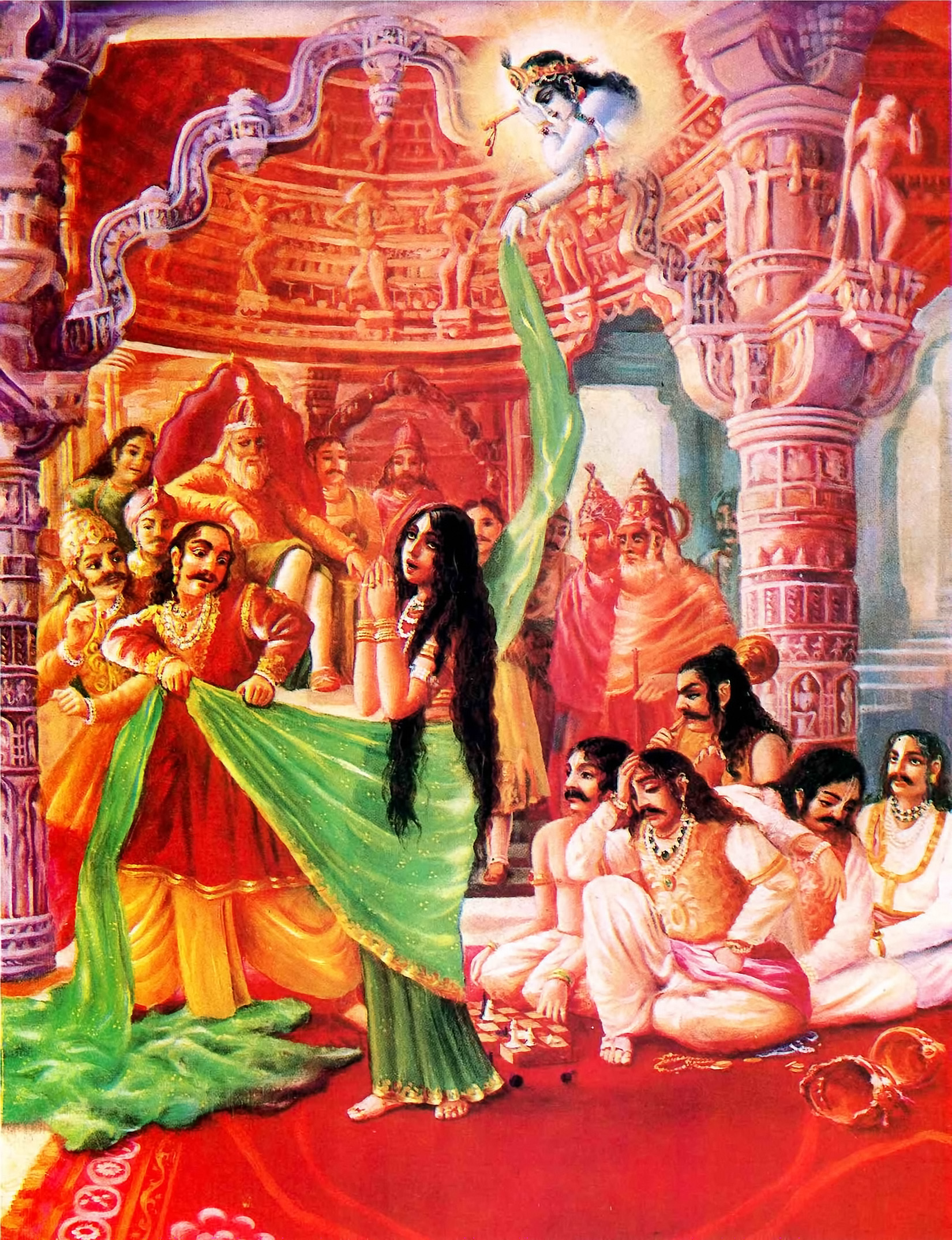 The insulting of Draupadi