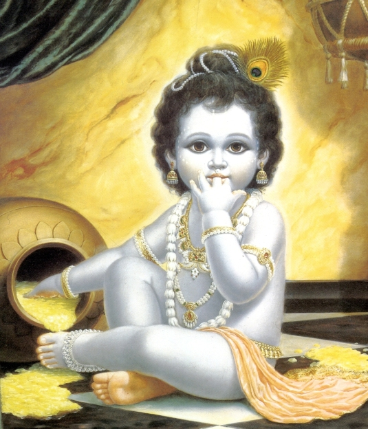 Beautiful-baby-Krishna-makhan-chor 1