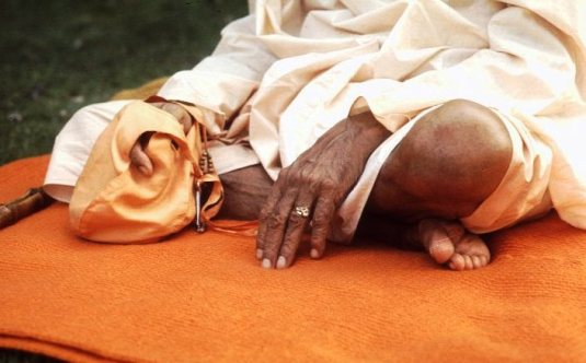 Srila Prabhupada's hand and foot
