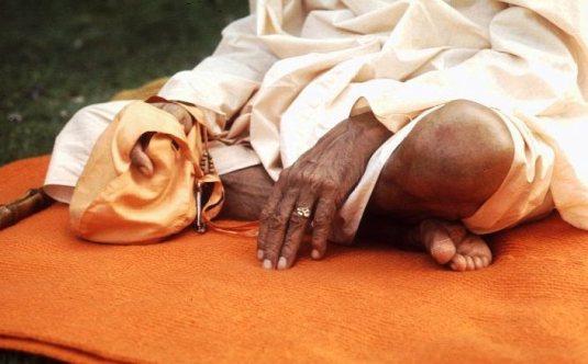 Srila Prabhupada's hand and foot