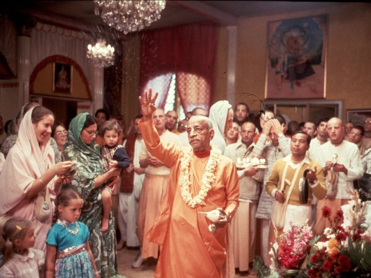 Srila Prabhupada with children