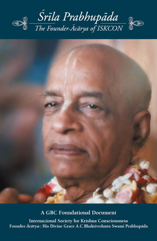 Srila Prabhupada The Founder-Acarya of ISKCON