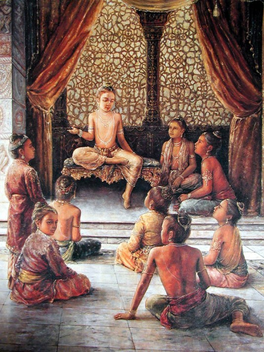 Prahlada instructs his classmates