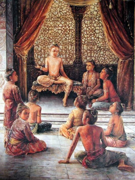Prahlada instructs his classmates