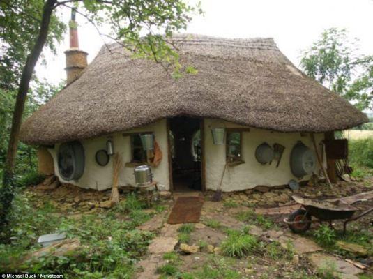 hand built house